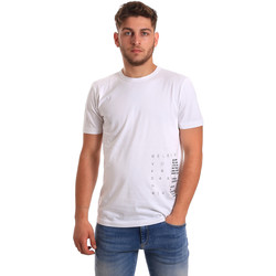 Vêtements Homme T-shirts manches courtes Antony Morato MMKS01223 FA100144 Blanc