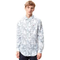 Vêtements Homme Chemises manches longues Napapijri N0YIDA Blanc