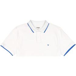 Vêtements Homme Polos manches courtes Wrangler W7D5K4989 Blanc