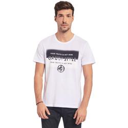 Vêtements Homme T-shirts manches courtes Gaudi 011BU64108 Blanc