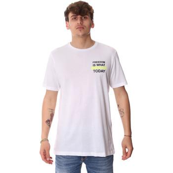 Vêtements Homme T-shirts manches courtes Antony Morato MMKS01786 FA100189 Blanc