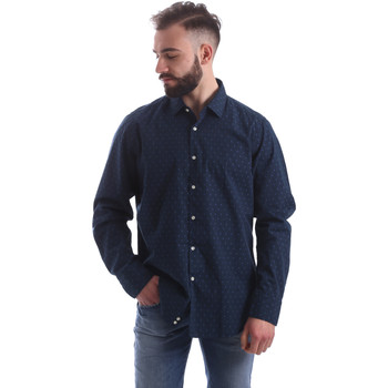 Vêtements Homme Chemises manches longues Gmf 962157/06 Bleu