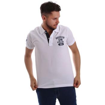 Vêtements Homme Polos manches courtes Key Up 255QG 0001 Blanc