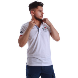Vêtements Homme Polos manches courtes Key Up 262RG 0001 Blanc