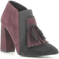 Chaussures Femme Low boots Café Noir NMA543 Noir