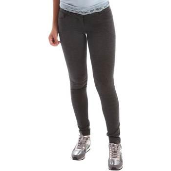 Vêtements Femme Pantalons 5 poches Animagemella 17AI108 Gris