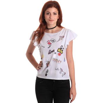 Vêtements Femme T-shirts manches courtes Fornarina BE175L40JG0709 Blanc