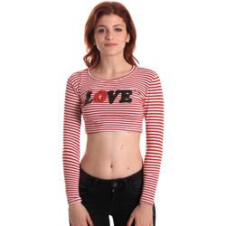Vêtements Femme T-shirts manches longues Fornarina SE175L14JG0976 Rouge