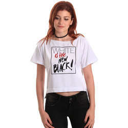 Vêtements Femme T-shirts manches courtes Fornarina SE175L28JG0709 Blanc