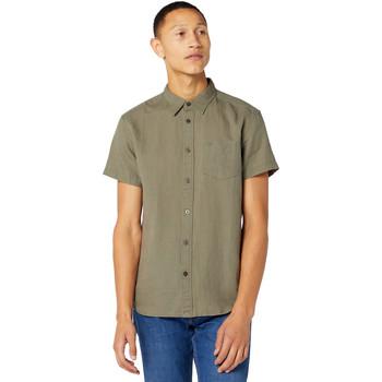 Vêtements Homme Chemises manches courtes Wrangler W5J1LOX45 Vert