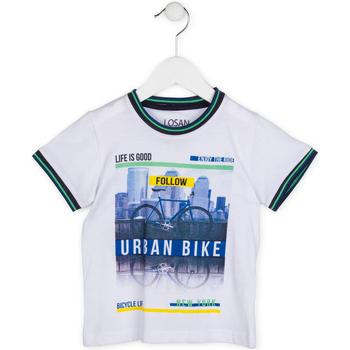 Vêtements Garçon T-shirts manches courtes Losan 715 1013AC Blanc