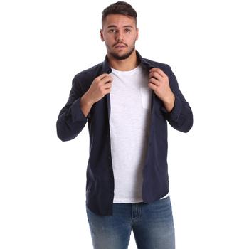 Vêtements Homme Chemises manches longues Antony Morato MMSL00408 FA400047 Bleu