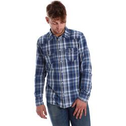 Vêtements Homme Chemises manches longues Gaudi 721BU46008 Bleu