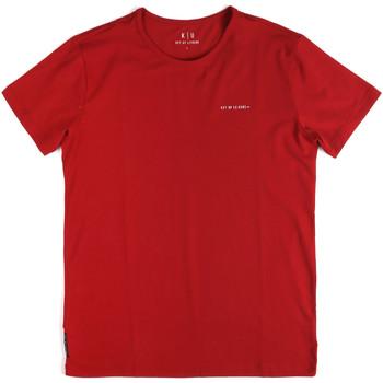 Vêtements Homme T-shirts manches courtes Key Up 2G69S 0001 Rouge
