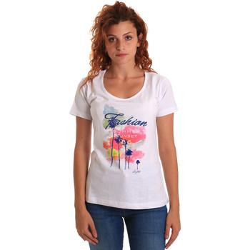 Vêtements Femme T-shirts manches courtes Key Up 5D58S 0001 Blanc
