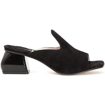 Chaussures Femme Mules Café Noir ME573 Noir
