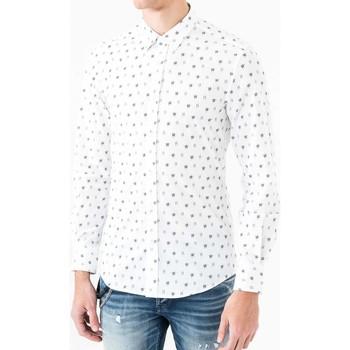 Vêtements Homme Chemises manches longues Antony Morato MMSL00425 FA430306 Blanc