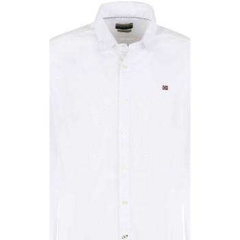 Vêtements Homme Chemises manches longues Napapijri NP0A4E2U Blanc