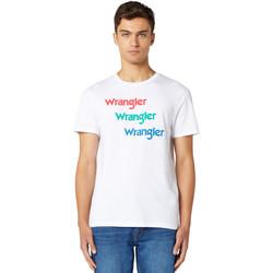 Vêtements Homme T-shirts manches courtes Wrangler W7D7D3989 Blanc