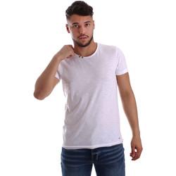 Vêtements Homme T-shirts manches courtes Key Up 233SG 0001 Blanc