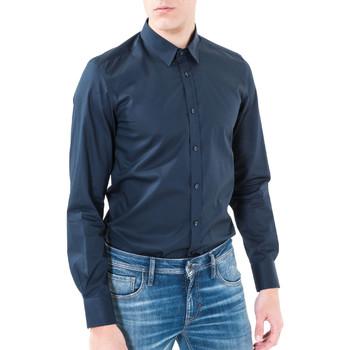 Vêtements Homme Chemises manches longues Antony Morato MMSL00362 FA400042 Bleu
