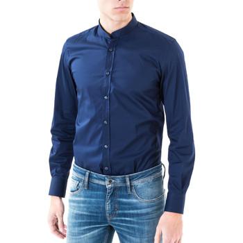 Vêtements Homme Chemises manches longues Antony Morato MMSL00376 FA450001 Bleu