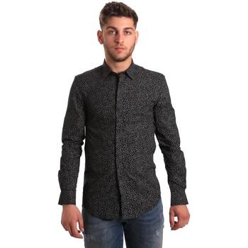 Vêtements Homme Chemises manches longues Antony Morato MMSL00428 FA430302 Noir
