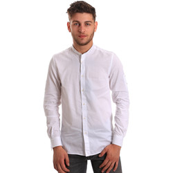 Vêtements Homme Chemises manches longues Antony Morato MMSL00429 FA440006 Blanc