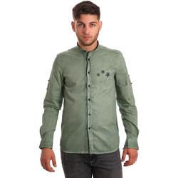 Vêtements Homme Chemises manches longues Antony Morato MMSL00452 FA400014 Vert