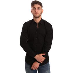 Vêtements Homme Chemises manches longues Antony Morato MMSL00472 FA450001 Noir