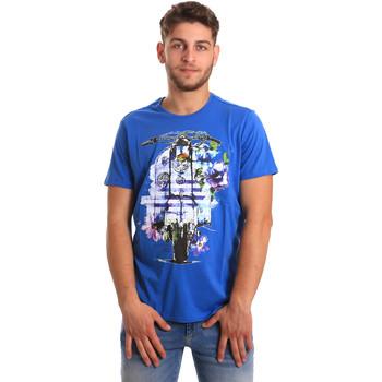 Vêtements Homme T-shirts manches courtes Gaudi 811BU64154 Bleu