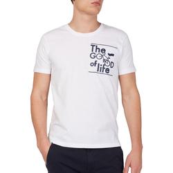 Vêtements Homme T-shirts manches courtes Gas 542990 Blanc