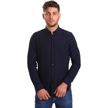 Vêtements Homme Chemises manches longues Gas 151200 Bleu