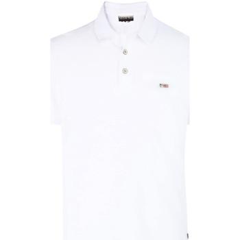 Vêtements Homme Polos manches courtes Napapijri N0YHDX Blanc