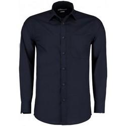 Vêtements Homme Chemises manches longues Kustom Kit K142 Bleu marine