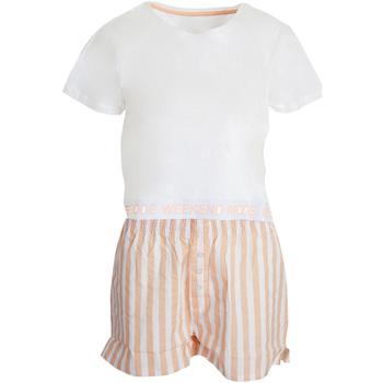 Vêtements Femme Pyjamas / Chemises de nuit Brave Soul  Blanc/rose