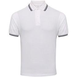 Vêtements Homme Polos manches courtes Awdis JP003 Blanc / bleu marine