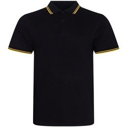 Vêtements Homme Polos manches courtes Awdis JP003 Noir / jaune