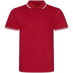 Vêtements Homme Polos manches courtes Awdis JP003 Rouge / blanc