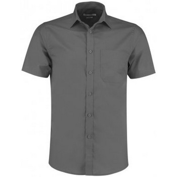 Vêtements Homme Chemises manches courtes Kustom Kit KK141 Gris