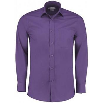 Vêtements Homme Chemises manches longues Kustom Kit K142 Violet