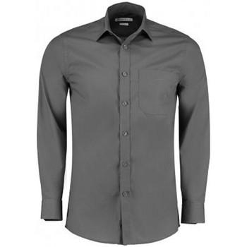 Vêtements Homme Chemises manches longues Kustom Kit K142 Gris