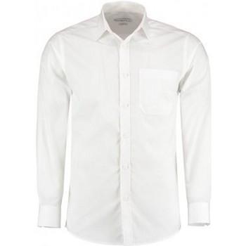 Vêtements Homme Chemises manches longues Kustom Kit K142 Blanc