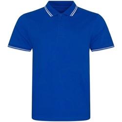 Vêtements Homme Polos manches courtes Awdis JP003 Bleu roi / blanc