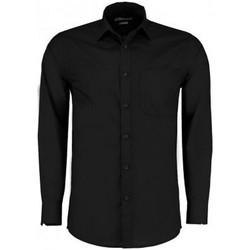 Vêtements Homme Chemises manches longues Kustom Kit K142 Noir