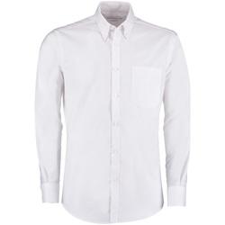 Vêtements Homme Chemises manches longues Kustom Kit KK182 Blanc