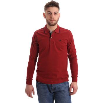 Vêtements Homme Polos manches longues Key Up 2RG71 0001 Rouge