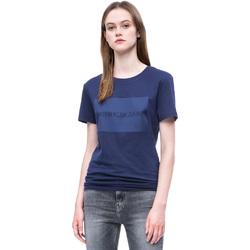 Vêtements Femme T-shirts manches courtes Calvin Klein Jeans J20J207949 Bleu
