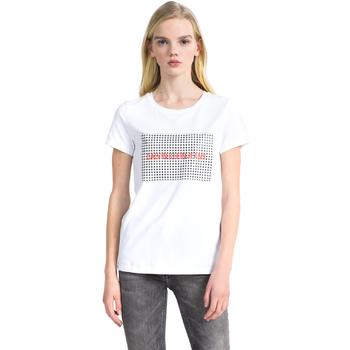 Vêtements Femme T-shirts manches courtes Calvin Klein Jeans J20J207974 Blanc