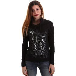 Vêtements Femme T-shirts manches longues Key Up 5VG84 0001 Noir